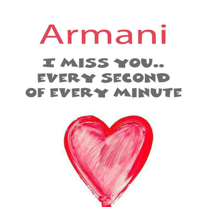 Cards Armani You're on my mind
