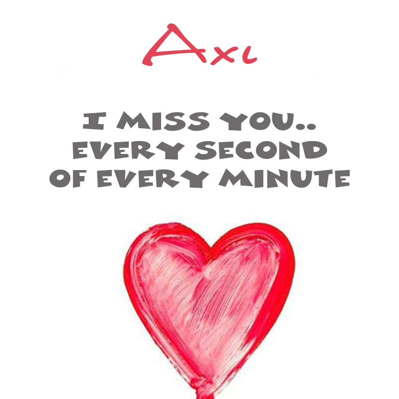 Cards Axl You're on my mind