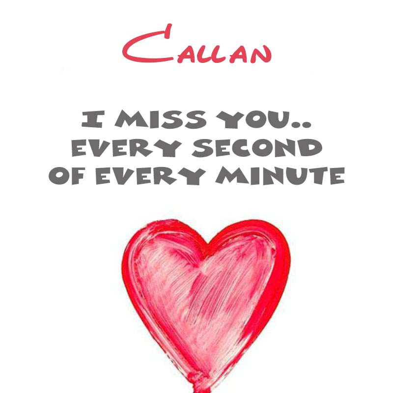 Cards Callan You're on my mind