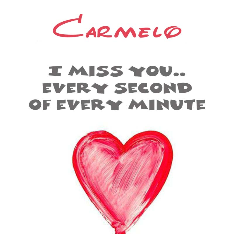 Cards Carmelo You're on my mind