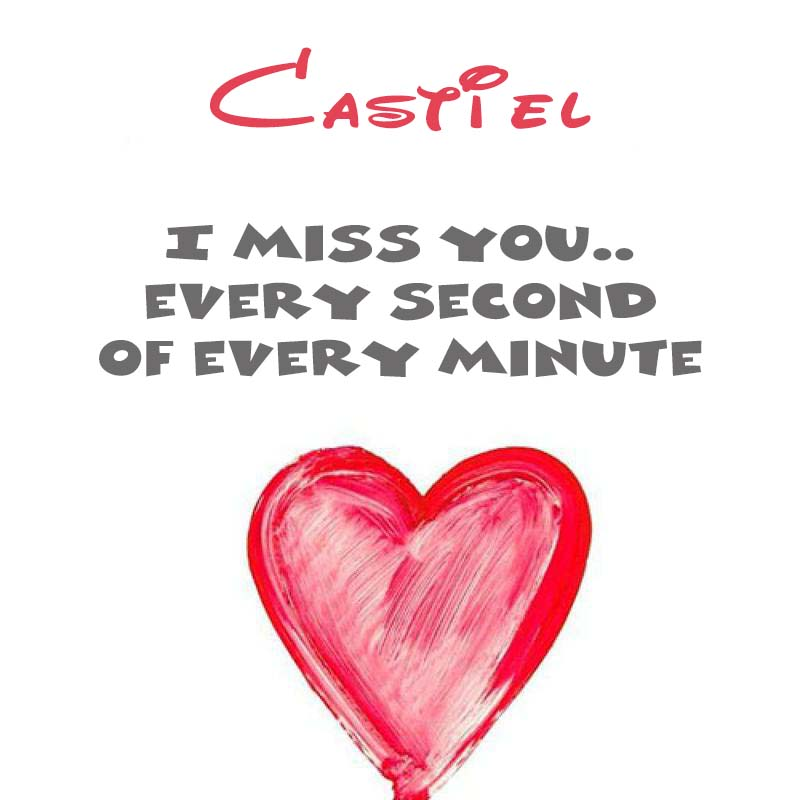 Cards Castiel You're on my mind