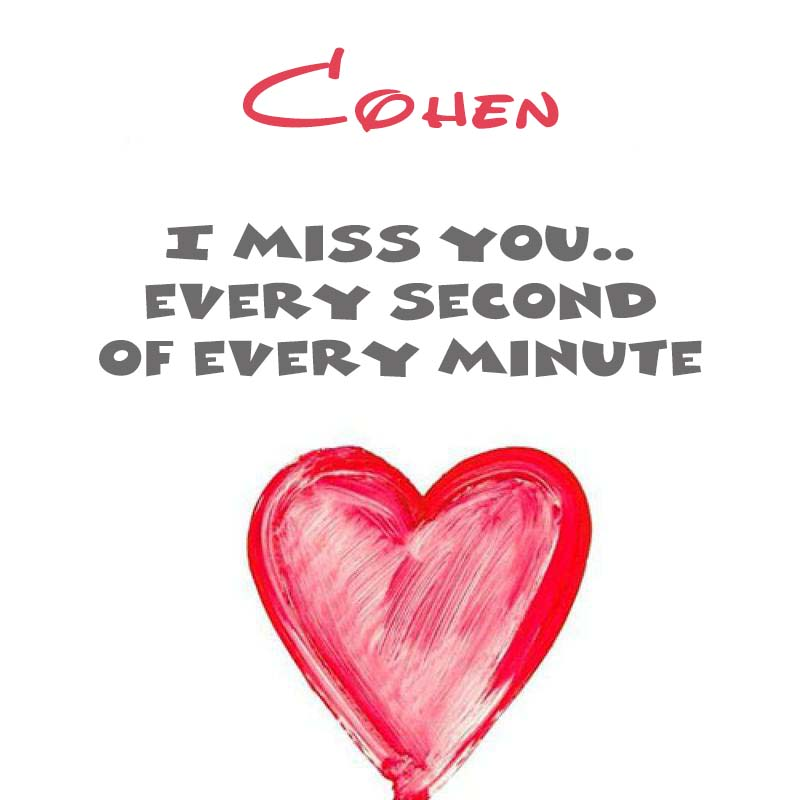 Cards Cohen You're on my mind