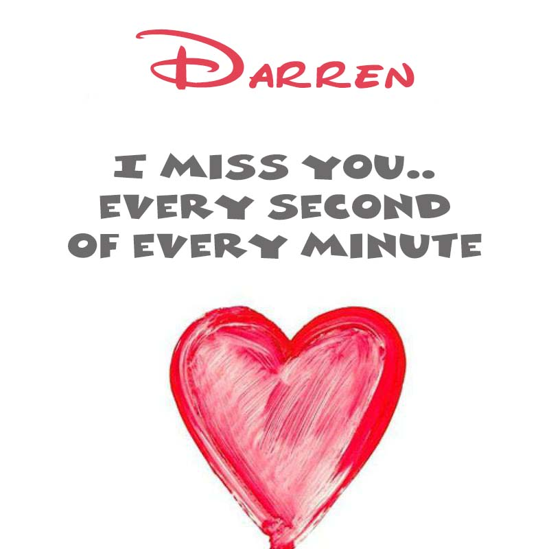 Cards Darren You're on my mind