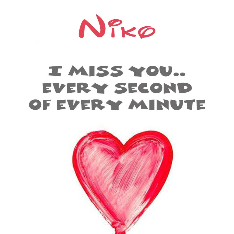 Cards Niko You're on my mind