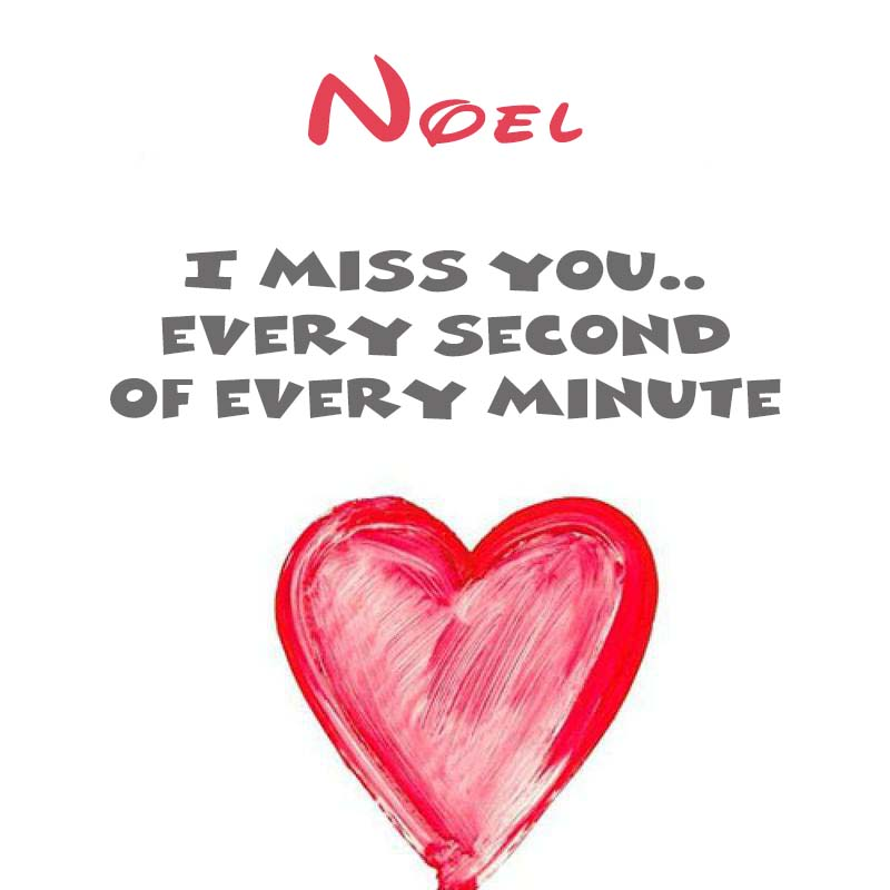 Cards Noel You're on my mind