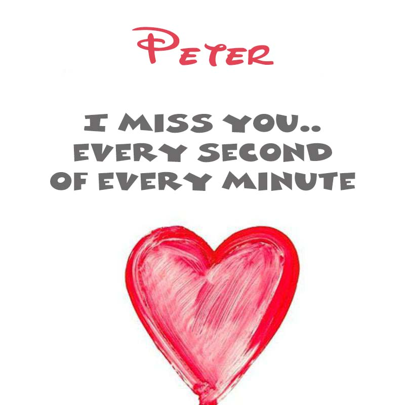 Cards Peter You're on my mind