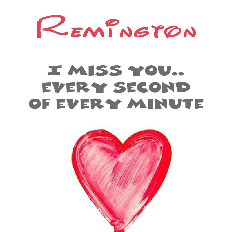 Cards Remington You're on my mind