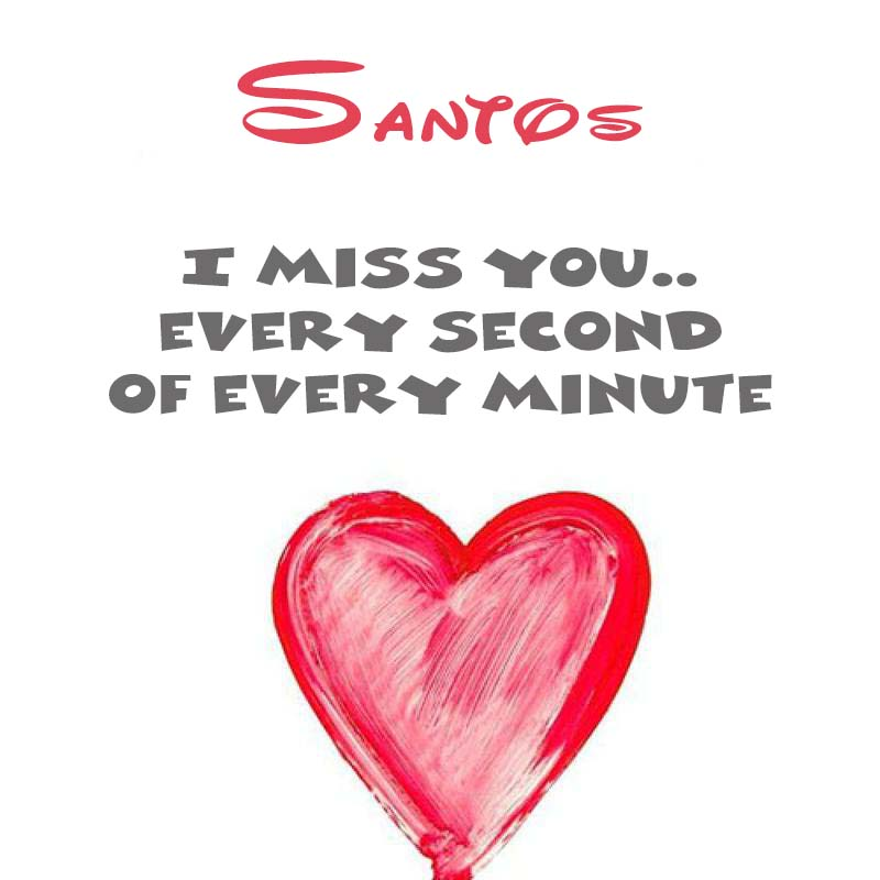 Cards Santos You're on my mind