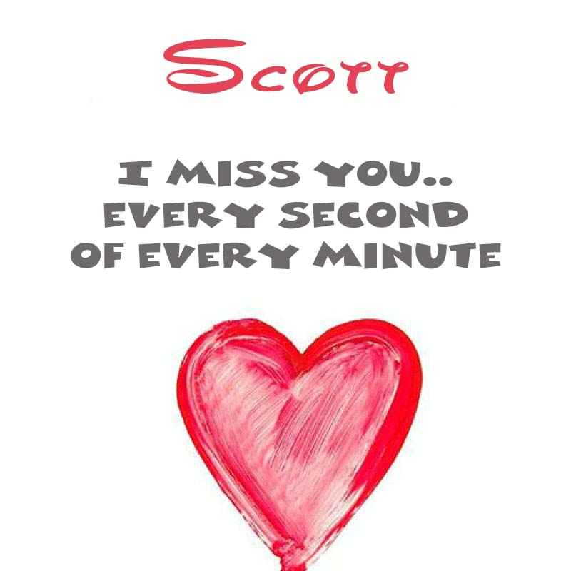 Cards Scott You're on my mind