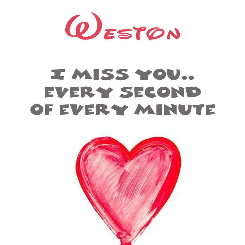 Cards Weston You're on my mind