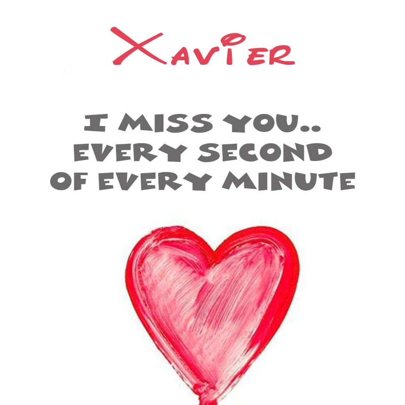 Cards Xavier You're on my mind