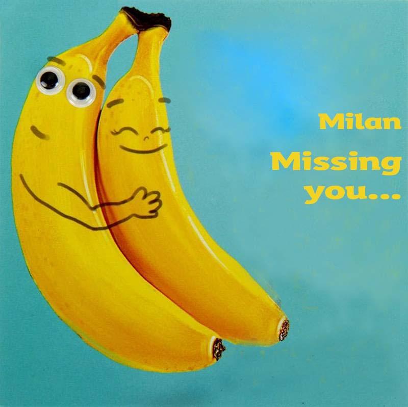 Ecards Milan Missing you already