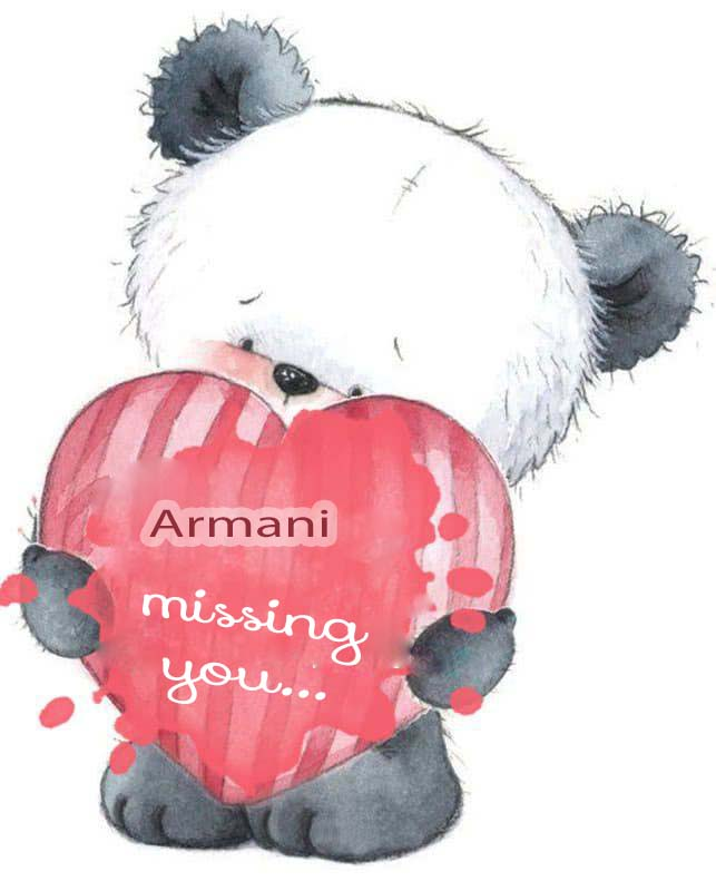 Ecards Missing you so much Armani
