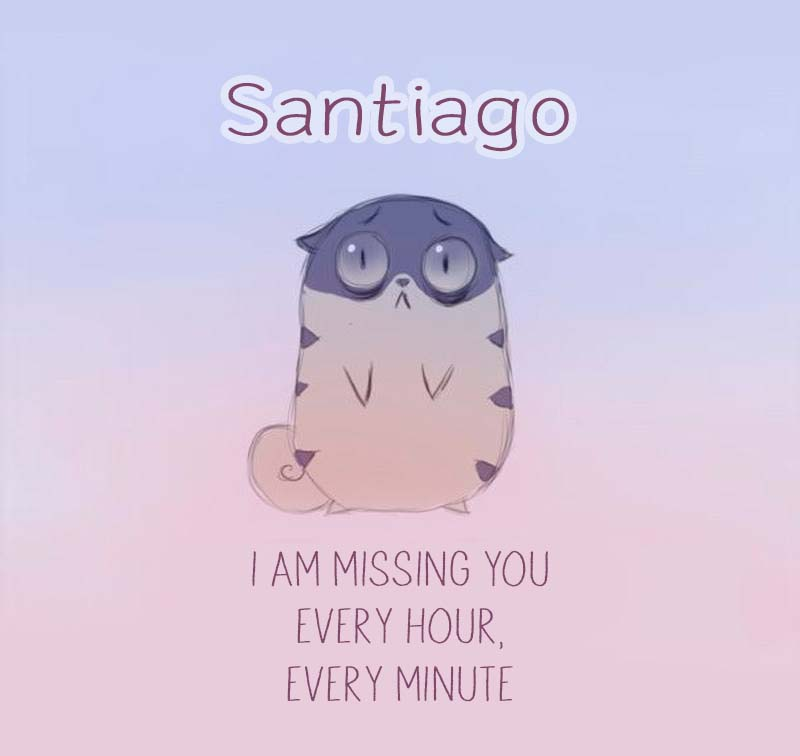 Cards Santiago I am missing you every hour, every minute