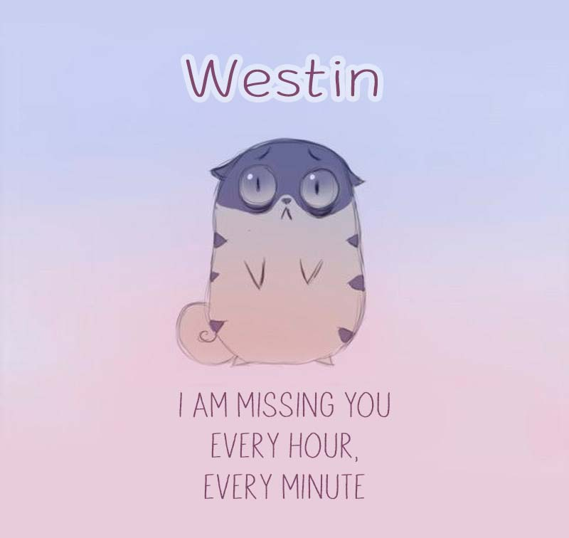 Cards Westin I am missing you every hour, every minute