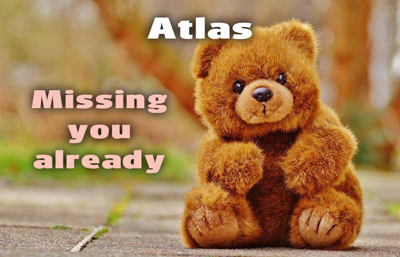 Ecards Atlas I miss you.. every second of every minute