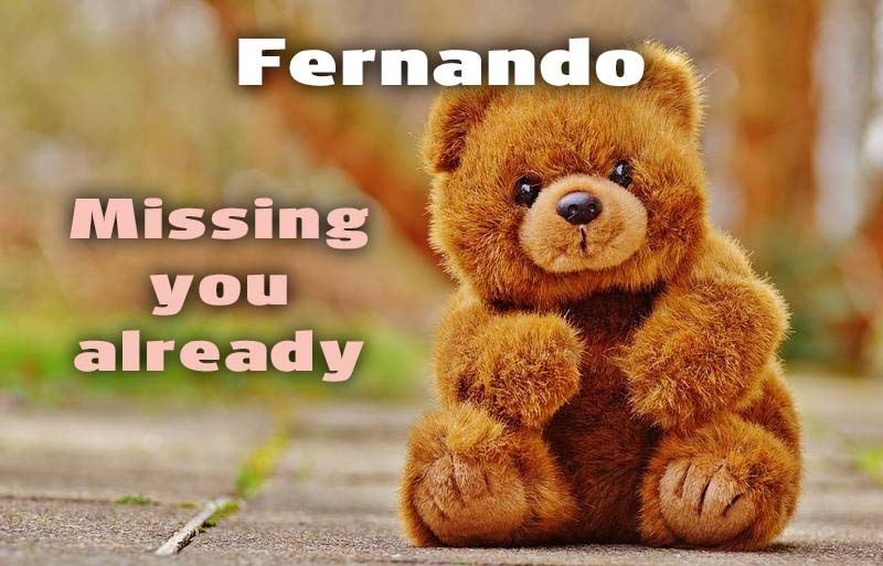 Ecards Fernando I miss you.. every second of every minute