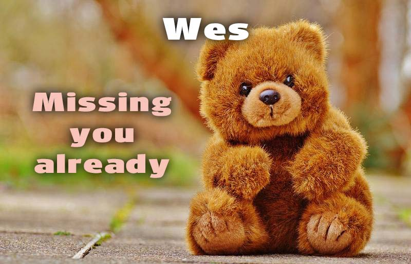 Ecards Wes I miss you.. every second of every minute