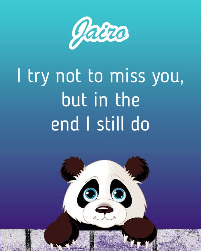 Cards Jairo I will miss you every day