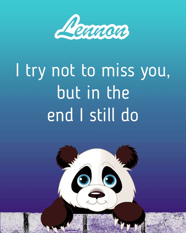 Cards Lennon I will miss you every day