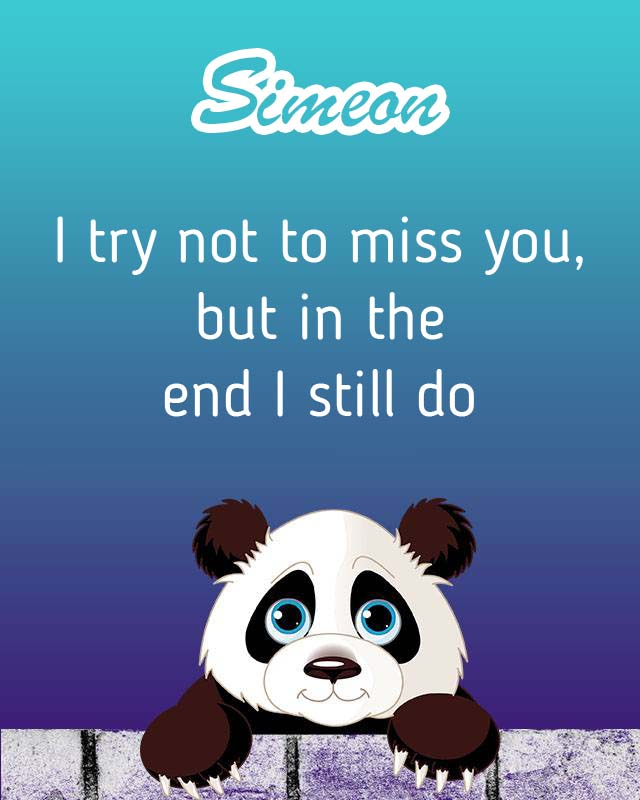 Cards Simeon I will miss you every day