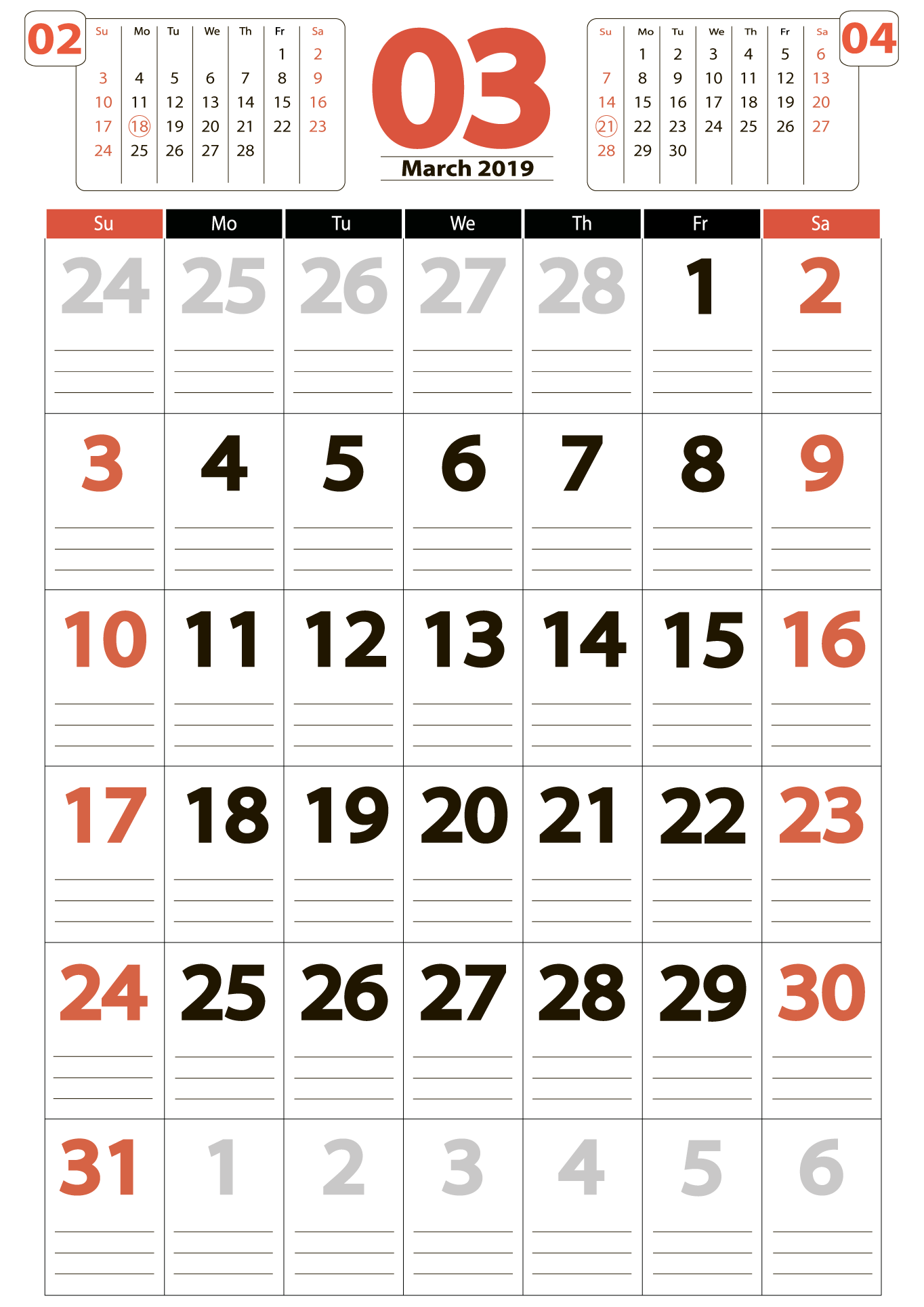 Download calendar 03 2019