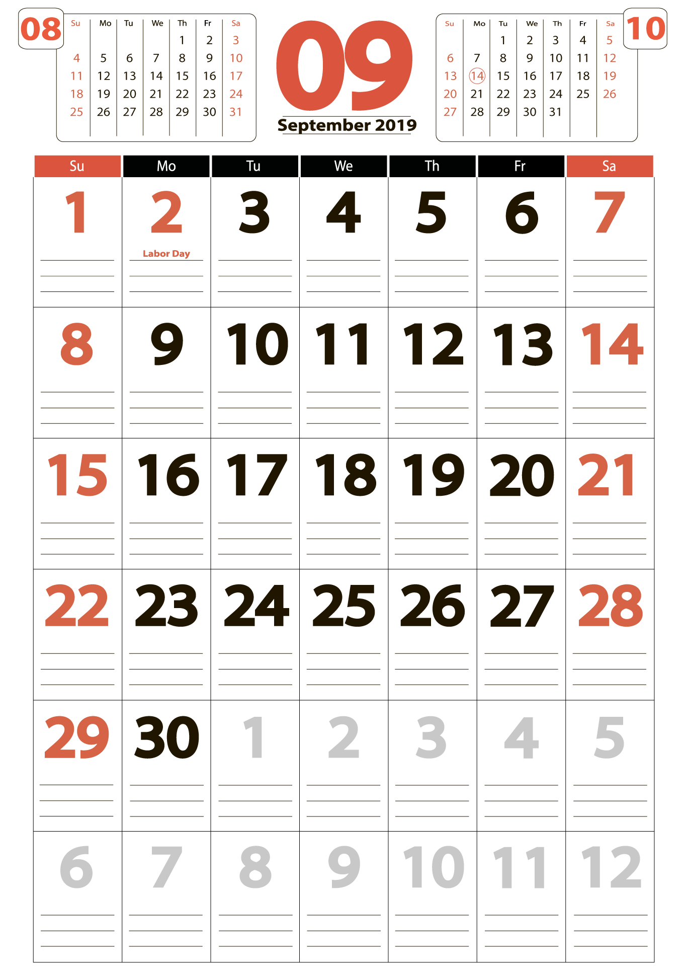 Download calendar 09 2019