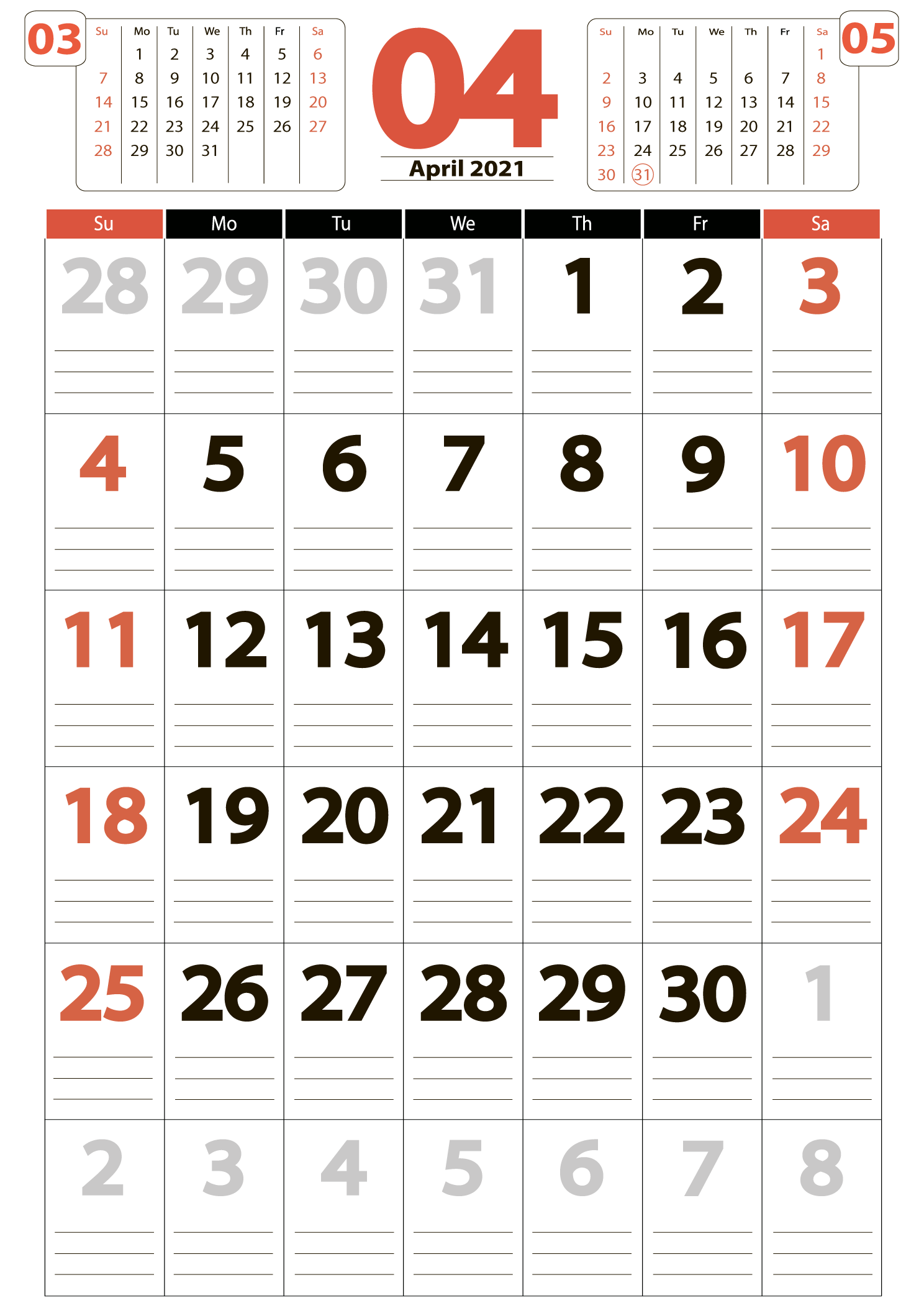 Download calendar 04 2021