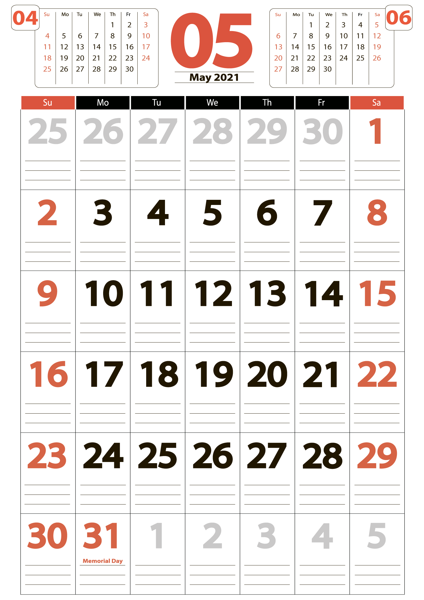 Download calendar 05 2021