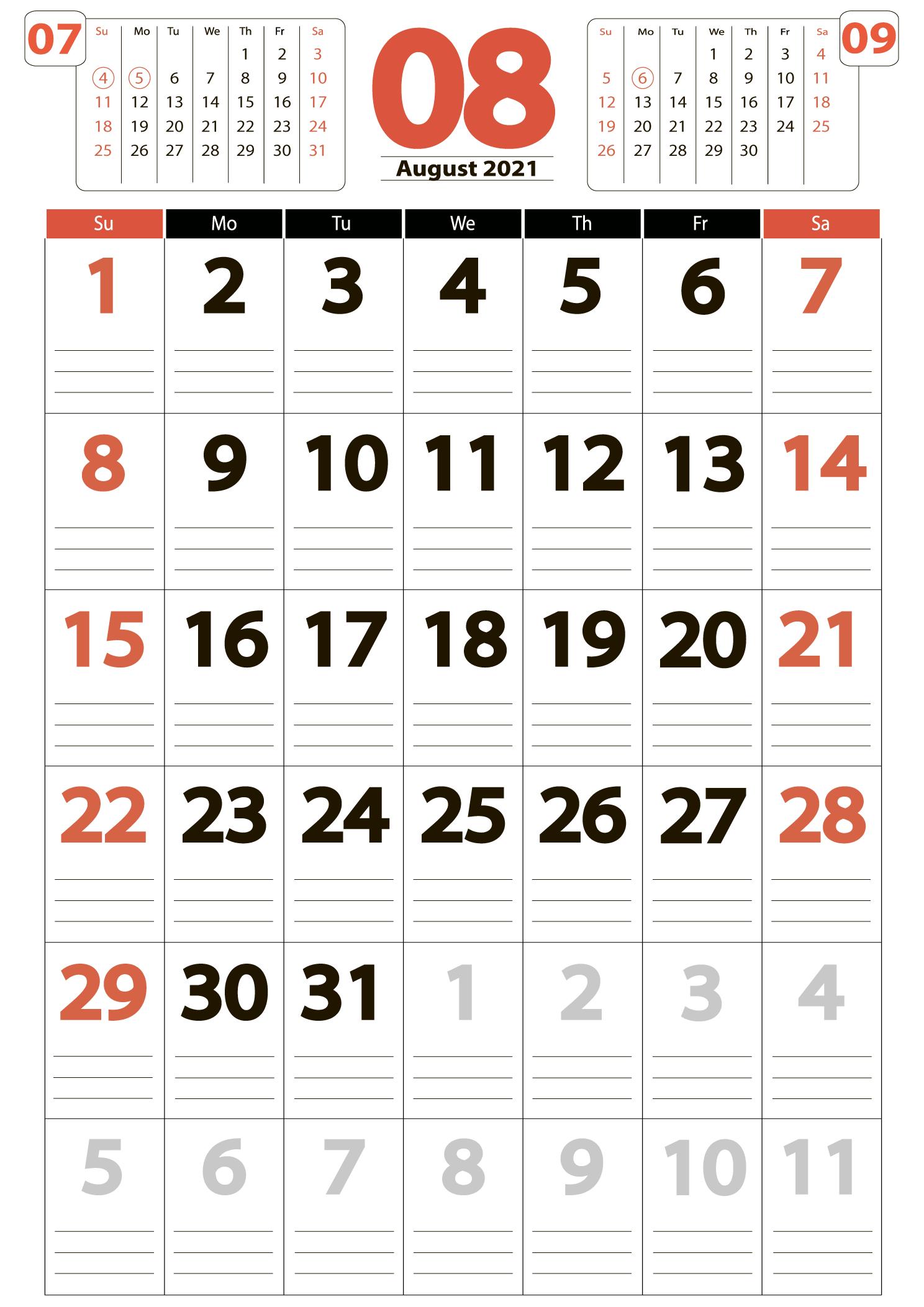 Download calendar 08 2021