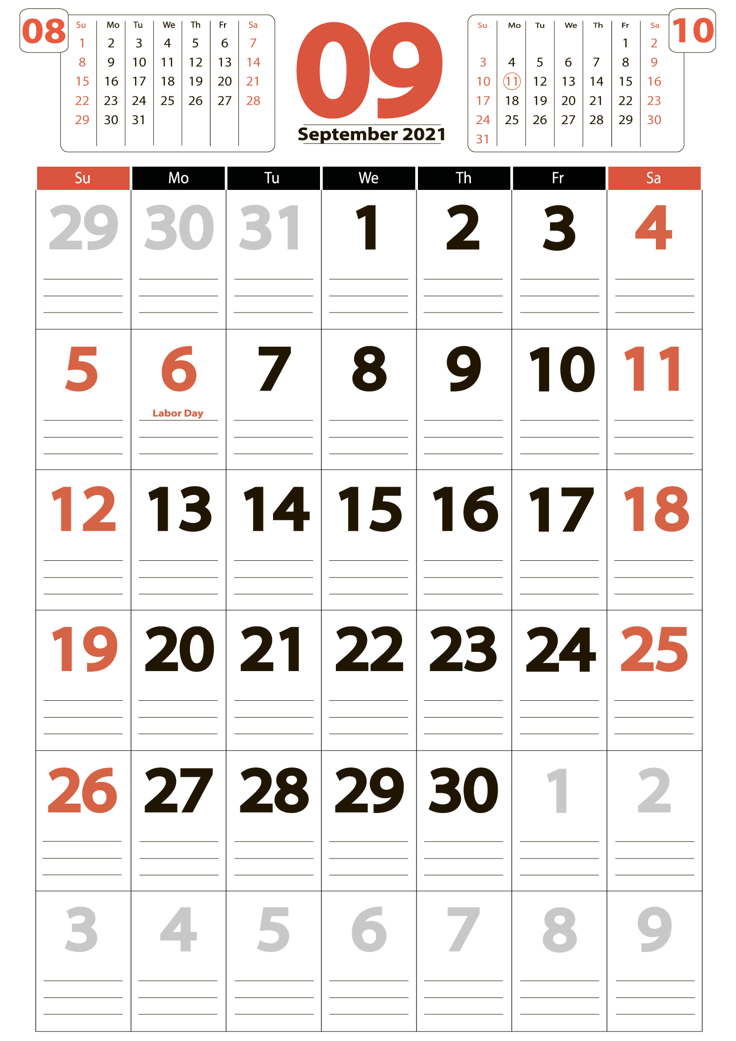 Download calendar 09 2021